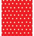 red polka seamless vector image