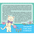 Background text with cat vector image vector image
