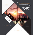 Modern Infographic for airport concept vector image vector image