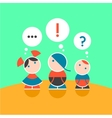 Children and their thoughts Color 2 vector image