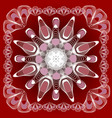 abstract mandala shape in guillloche design white vector image