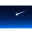 Night sky Star drops in night sky make wish vector image