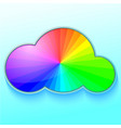 rainbow in cloud vector image