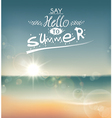 Say hello to summer vector image