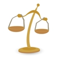 Scales gold cartoon vector image