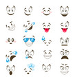 set of cute emoticon vector image