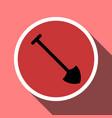 shovel icon in a circle frame vector image