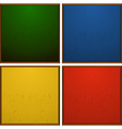 Frames in four colors vector image