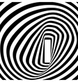 Black and white spiral optical vector image