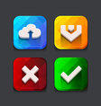 Download web icons collection vector image vector image