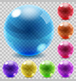 Colored glass spheres vector image