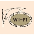 Wi Fi text on vintage street sign vector image