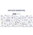 Affiliate Marketing Doodle Concept vector image