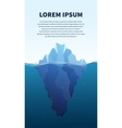 Big iceberg in the sea concept vector image