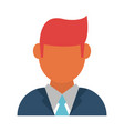 businessman profile avatar icon image vector image