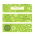 environmental horizontal banners set pattern vector image