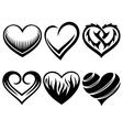 hearts tattoos vector image