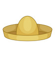 mexican hat sombrero icon cartoon style vector image