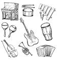 set of instruments vector image
