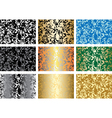 set of patterns with abstract textures vector image