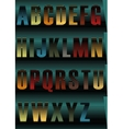 Striped Night Alphabet vector image