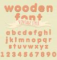 Vintage wooden alphabet Flat style vector image