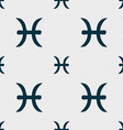 Pisces zodiac sign sign Seamless pattern with vector image