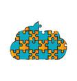 cloud puzzle pieces image vector image