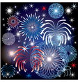 July 4th fireworks vector image
