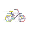 bicycle moving fast on light background l vector image