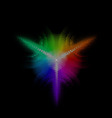 Multicolored equalizer round Dotst digital star 01 vector image