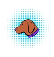 Hunting dog icon comics style vector image