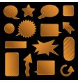 gold tags and speech bubbles vector image vector image