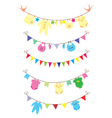bunting baby shower vector image
