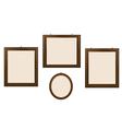 Empty Wooden Frames vector image