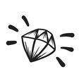 Hand Drawn Diamond vector image