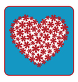 Heart floral design vector image