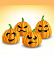 Pumpkin head set with different expressions vector image