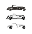 Retro cabriolet sport car vintage collection vector image