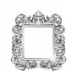 Exquisite Baroque Rococo Mirror frame vector image