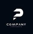 Alphabet letter P logo icon design vector image