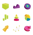 Business data market element icons set vector image