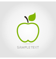 Apple green vector image