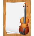 Violin banner vector image