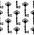 Old antique key seamless background pattern vector image vector image