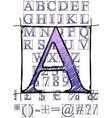 scribble alphabet vector image vector image