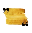 Gold stain quotation mark speech bubble vector image