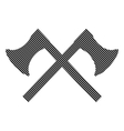 Crossed axes sign vector image