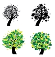 different trees vector image