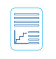 document paper file with graph diagram business vector image